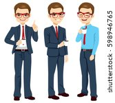 young adult businessman... | Shutterstock .eps vector #598946765