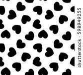 seamless pattern with hearts.... | Shutterstock .eps vector #598949255