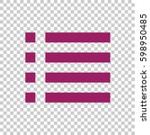 check list icon flat . | Shutterstock .eps vector #598950485