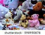 inflatable balloons and toys on ... | Shutterstock . vector #598950878