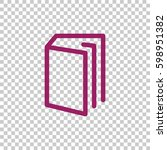 book icon flat . | Shutterstock .eps vector #598951382