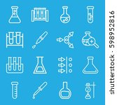 experiment icons set. set of 16 ... | Shutterstock .eps vector #598952816