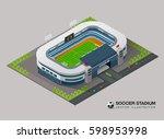 isometric soccer stadium   Shutterstock .eps vector #598953998