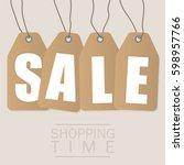 sale inscription design... | Shutterstock .eps vector #598957766