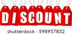 sale inscription design... | Shutterstock .eps vector #598957832