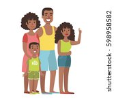 father  mother  teenage... | Shutterstock .eps vector #598958582