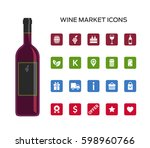 set of vector icons for selling ... | Shutterstock .eps vector #598960766