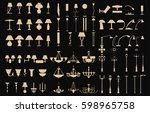 modern lightning standing ...   Shutterstock .eps vector #598965758