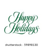 happy holidays vector lettering | Shutterstock .eps vector #59898130