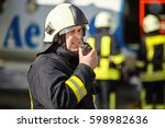 firefighters in training | Shutterstock . vector #598982636