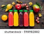 summer fresh drink in plastic... | Shutterstock . vector #598982882