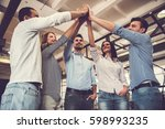 successful business team is... | Shutterstock . vector #598993235