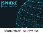 abstract sphere vector... | Shutterstock .eps vector #598995755