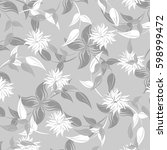 vector seamless pattern flowers ... | Shutterstock .eps vector #598999472