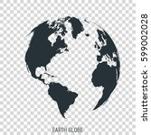 earth globe. view on north and... | Shutterstock .eps vector #599002028