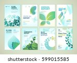 nature and healthcare brochure... | Shutterstock .eps vector #599015585