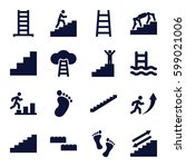 step icons set. set of 16 step...   Shutterstock .eps vector #599021006