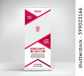 banner roll up vector  red... | Shutterstock .eps vector #599023166
