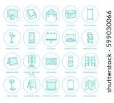 advertising exhibition banner... | Shutterstock .eps vector #599030066