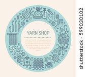 knitting  crochet  hand made...   Shutterstock .eps vector #599030102