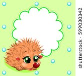 cute card with fun small... | Shutterstock .eps vector #599030342
