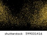 gold glitter texture isolated... | Shutterstock .eps vector #599031416