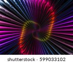 abstract volute flower   ... | Shutterstock . vector #599033102