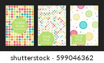 collection of creative artistic ... | Shutterstock .eps vector #599046362