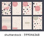 collection of creative covers.... | Shutterstock .eps vector #599046368