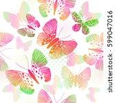 seamless butterfly. vector   Shutterstock .eps vector #599047016