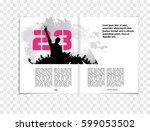 magazine layout | Shutterstock .eps vector #599053502