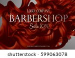 barbershop poster promo with... | Shutterstock .eps vector #599063078
