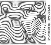 vector abstract line pattern.... | Shutterstock .eps vector #599065286