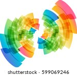 multicolored abstract geometric ... | Shutterstock .eps vector #599069246