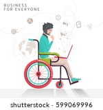 concept of man with... | Shutterstock .eps vector #599069996