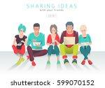 international multicultural... | Shutterstock .eps vector #599070152