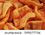 bacon flavored snacks. bacon... | Shutterstock . vector #599077736
