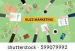 illustration of buzz marketing... | Shutterstock .eps vector #599079992