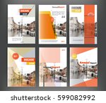 clean brochure cover templates... | Shutterstock .eps vector #599082992