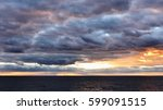 dramatic clouds in atlantic | Shutterstock . vector #599091515