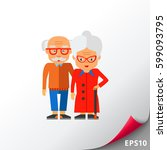 elderly people vector icon | Shutterstock .eps vector #599093795