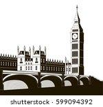 vector illustration of the... | Shutterstock .eps vector #599094392