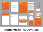 corporate identity design... | Shutterstock .eps vector #599098088