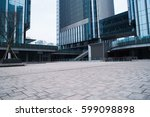 empty ground in front of modern ... | Shutterstock . vector #599098898