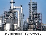 close up industrial view at oil ... | Shutterstock . vector #599099066