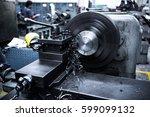 close up cnc milling machine... | Shutterstock . vector #599099132