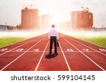 business man competition... | Shutterstock . vector #599104145