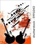 vector musical background | Shutterstock .eps vector #5991043