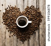 Coffee In Coffee Beans As A...