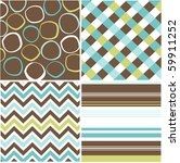 seamless patterns with fabric... | Shutterstock .eps vector #59911252